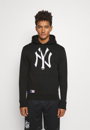 NEW YORK YANKEES MLB INFILL LOGO HOODY - Club wear - black