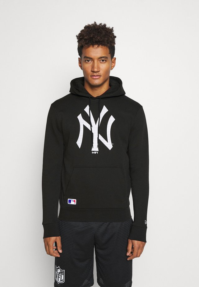 NEW YORK YANKEES MLB INFILL LOGO HOODY - Vereinsmannschaften - black