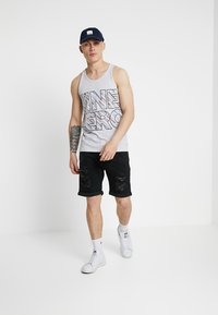 Jack & Jones - Denim shorts - black denim - 1