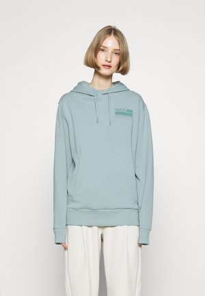Pulover s kapuco - pastel green
