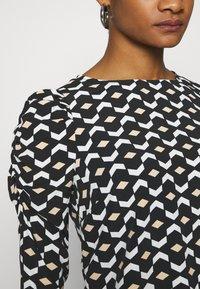 Dorothy Perkins - GEO PRINT LONG SLEEVE PUFF SHOULDER - Long sleeved top - black - 6
