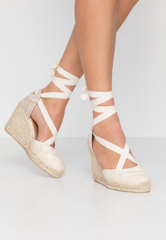 CUCU  - Sandály na vysokém podpatku - ivory