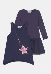 happy girls - SEQUIN 2 PACK - Jersey dress - navy - 0