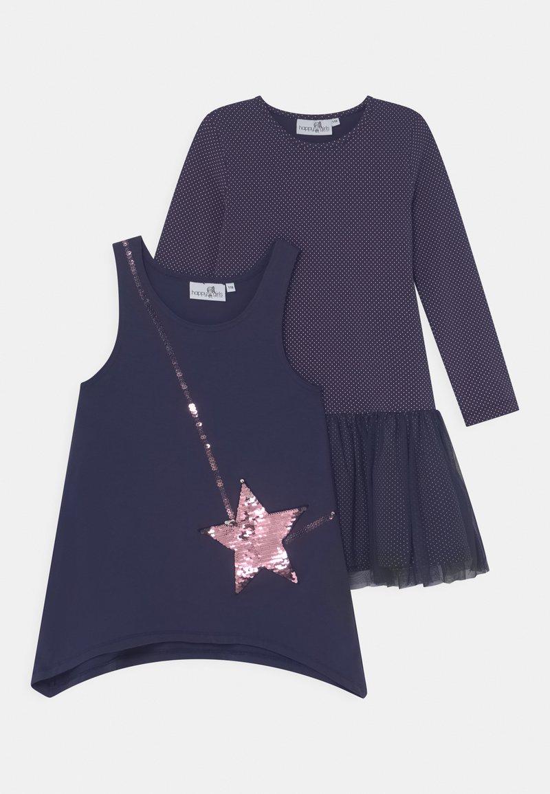 happy girls - SEQUIN 2 PACK - Jersey dress - navy