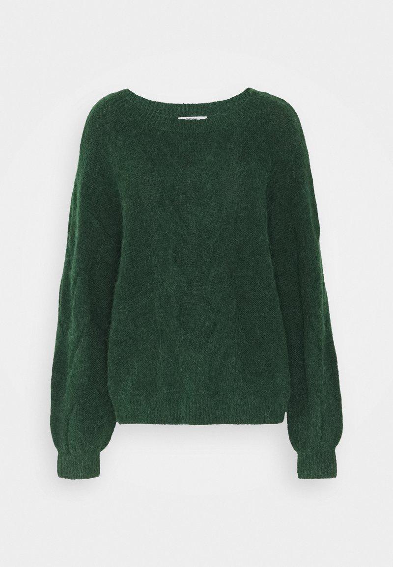 Esprit - BIG CABLE - Jumper - dark green