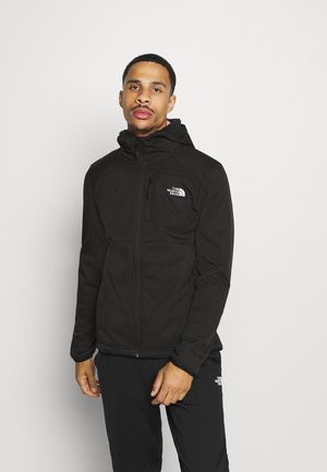 QUEST HOODED - Kurtka Softshell - tnf black