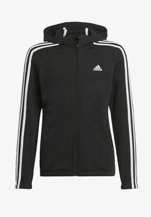 Sweater met rits - black