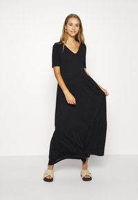 Vero Moda - VMMITSI V-NECK ANCLE DRESS - Maxi dress - black - 0