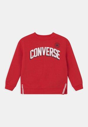 LOGO CREW SIDE VENTS UNISEX - Sweatshirt - university red