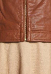 Part Two - ADELAIDE - Veste en cuir - brown - 6