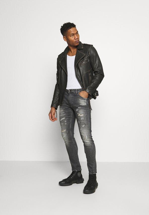 Tigha BILLY THE KID REPAIRED - Jeansy Skinny Fit - vintage black/czarny Odzież Męska KWCF