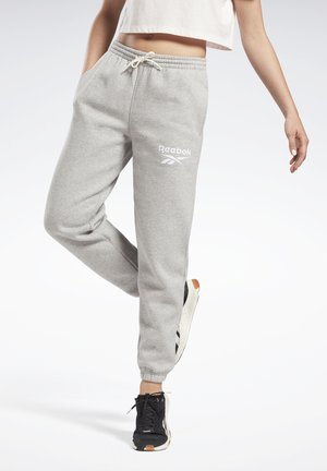 REEBOK IDENTITY LOGO FLEECE PANTS - Tracksuit bottoms - medium grey heather