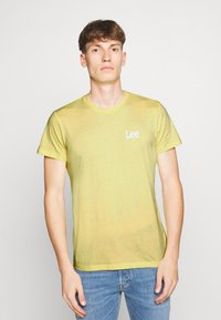 Lee - TWIN 2 PACK - T-shirt basic - navy/sunshine - 1