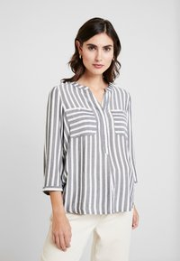 TOM TAILOR - BLOUSE STRIPED - Blouse - offwhite/navy - 0
