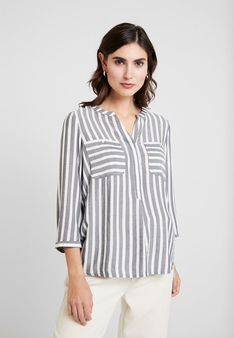 TOM TAILOR - BLOUSE STRIPED - Blouse - offwhite/navy