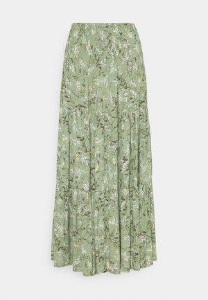 BYFLAMINIA LONG SKIRT - Maksihame - oil green mix