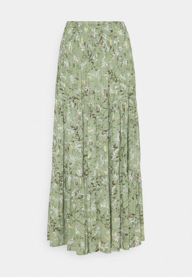 BYFLAMINIA LONG SKIRT - Maxiskjørt - oil green mix