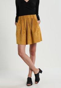 Moves - KIA - A-line skirt - mustard yellow - 0