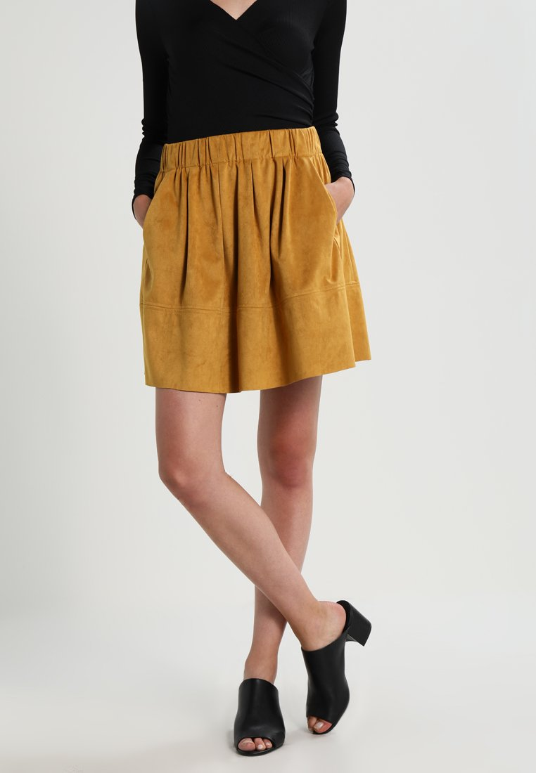 Moves - KIA - A-line skirt - mustard yellow