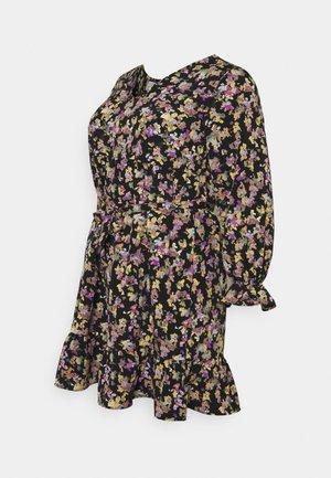 MLEMRA DRESS - Jurk - black/snow white/dewberry
