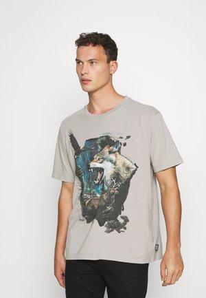 LUMOS WILDLIFE TEE - T-shirt print - beige