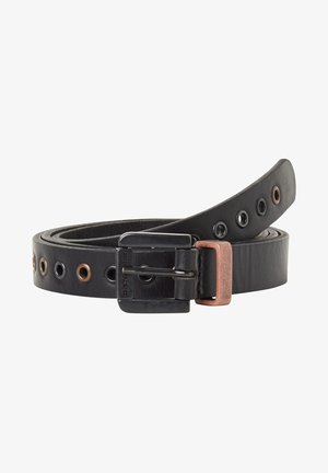 KHOMA EYELET - Belt - dk black/sterling/copper