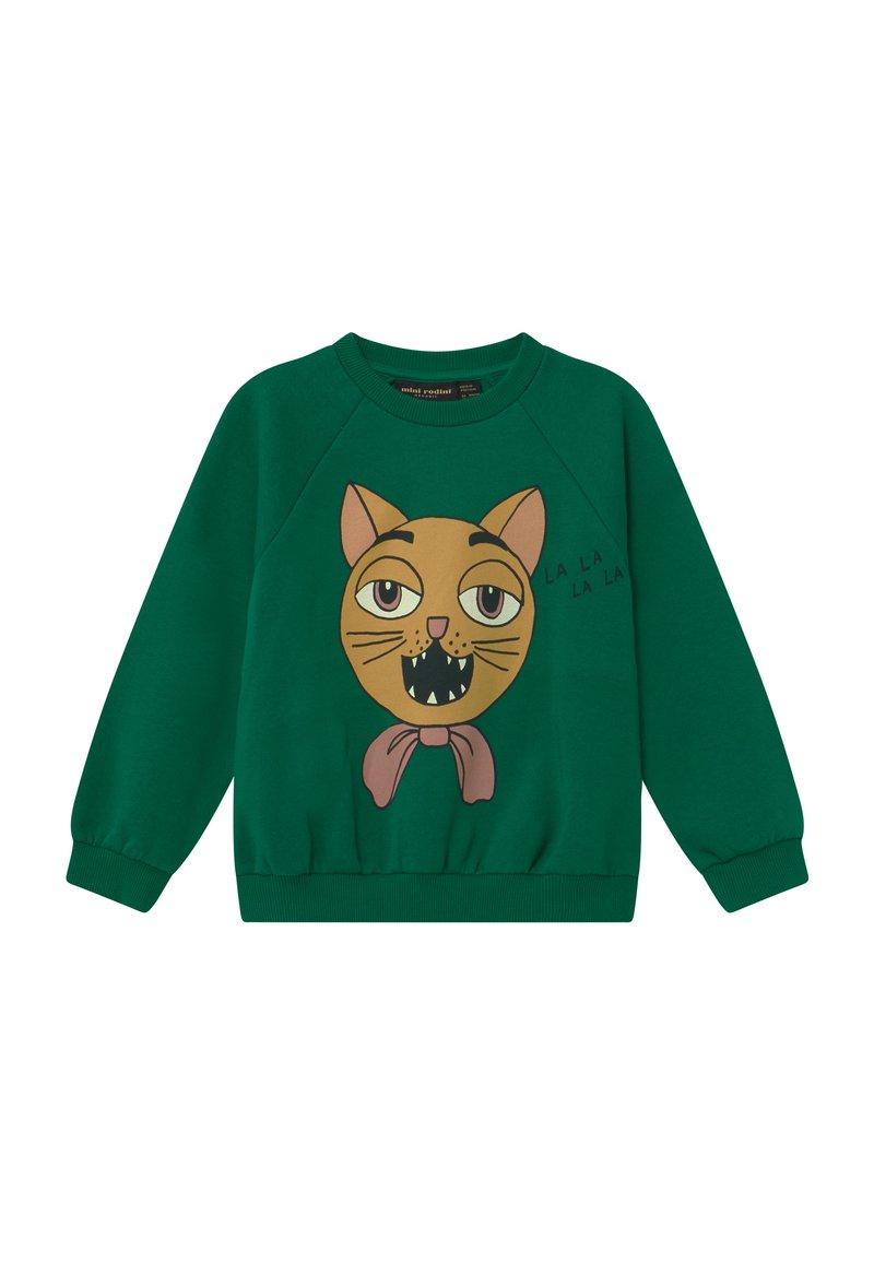 Mini Rodini - CAT CHOIR - Sweatshirt - green