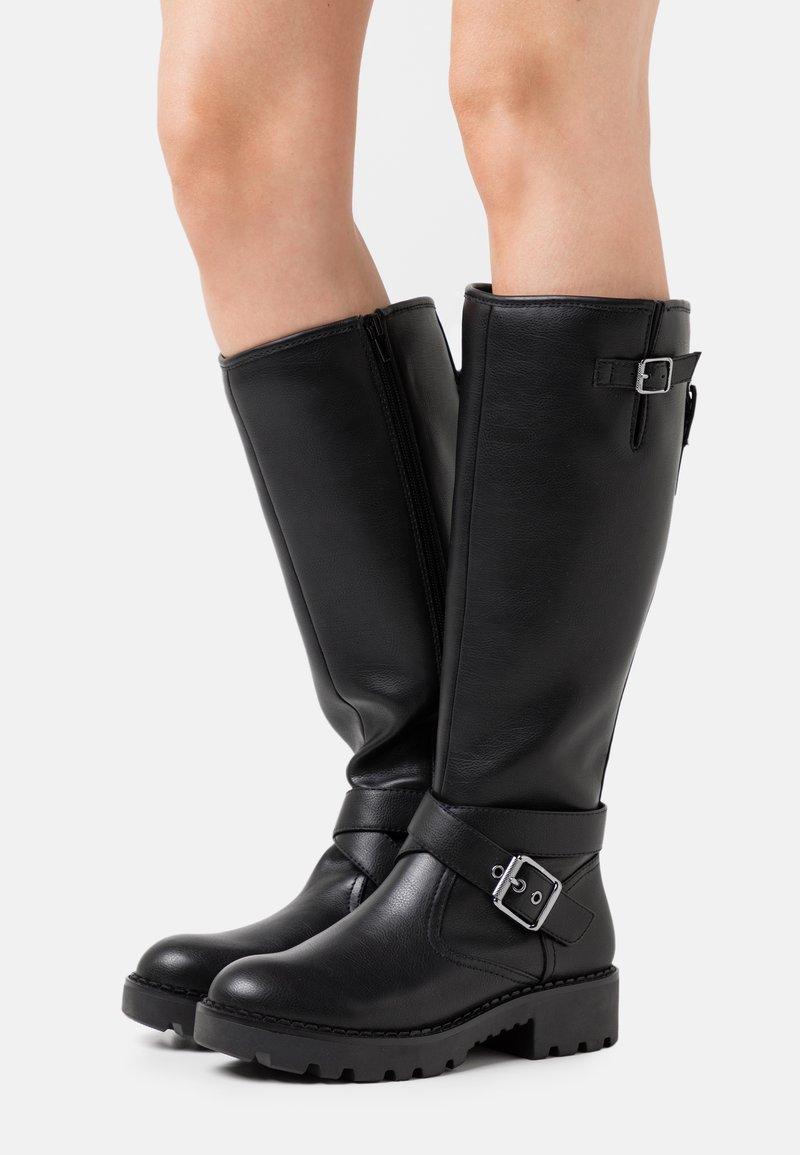 Buffalo - MARCOS - Cowboy/Biker boots - black