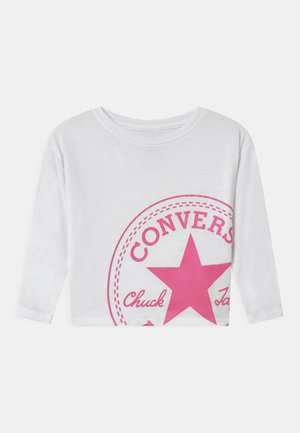 OVERSIZED CHUCK PATCH DOLMAN  - Long sleeved top - white