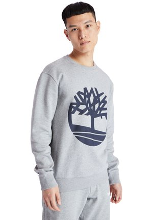 CORE TREE LOGO CREW - Sweatshirt - medium grey heather-dark sapphire