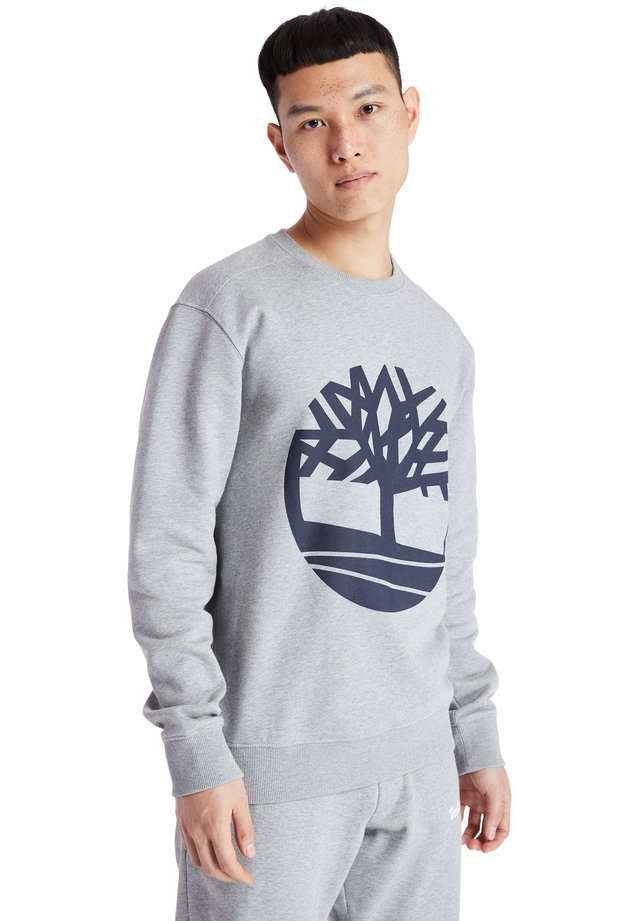 CORE TREE LOGO CREW - Collegepaita - medium grey heather-dark sapphire