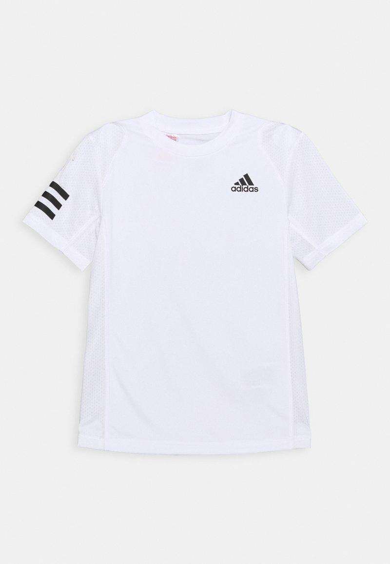 adidas Performance - CLUB UNISEX - T-shirt print - white/black