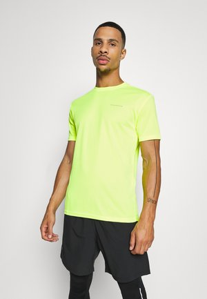 VERNON PERFORMANCE TEE - Camiseta estampada - safety yello