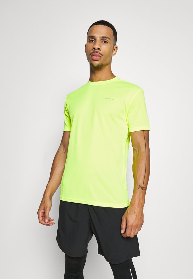 VERNON PERFORMANCE TEE - T-shirt imprimé - safety yello