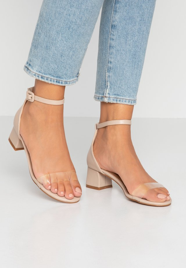 LOLA BLOCK HEEL - Sandals - nude