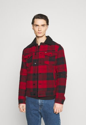 WOOL MIX  SHERPA JACKET - Overgangsjakker - red