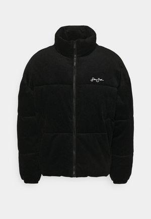 SCRIPT LOGO PUFFER JACKET - Winter jacket - black