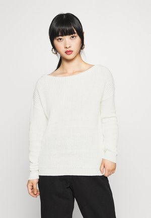 OPHELITA OFF SHOULDER JUMPER - Strikkegenser - off-white