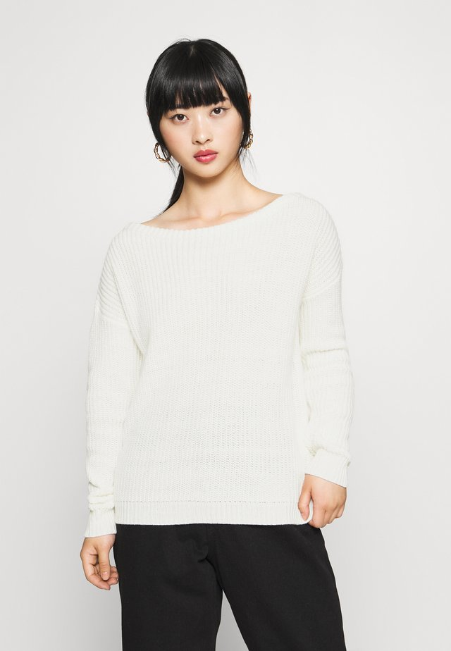 OPHELITA OFF SHOULDER JUMPER - Sweter - off-white