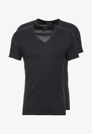 BASE V-NECK T S/S 2-PACK - Jednoduché triko - pedal grey