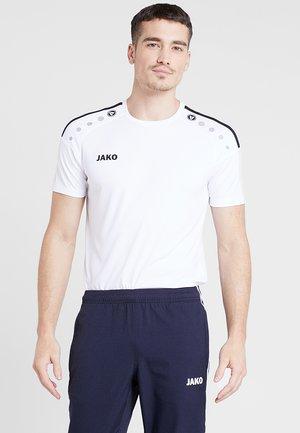 TRIKOT STRIKER  - T-shirt de sport - weiß/schwarz