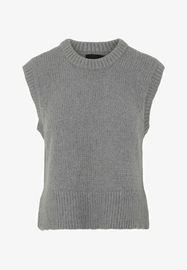 PCGRETA SL O NECK  - Sweter - medium grey melange