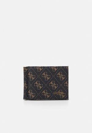 VEZZOLA MONEY CLIP CARD CASE - Portemonnee - dark brown