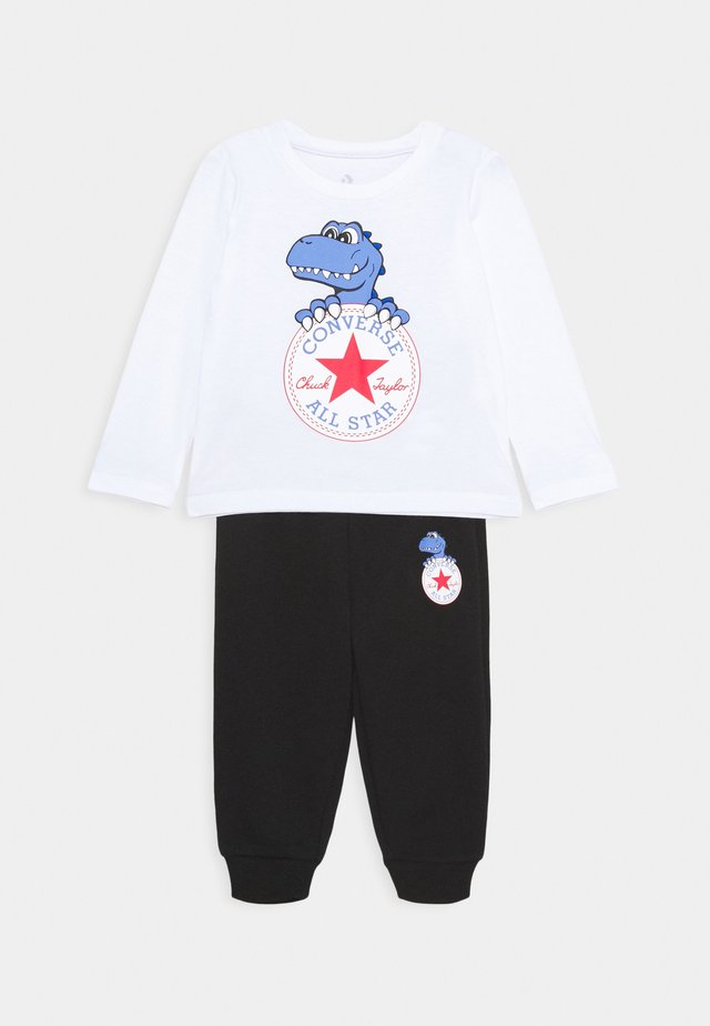 STAR TEE SET - Tracksuit bottoms - white