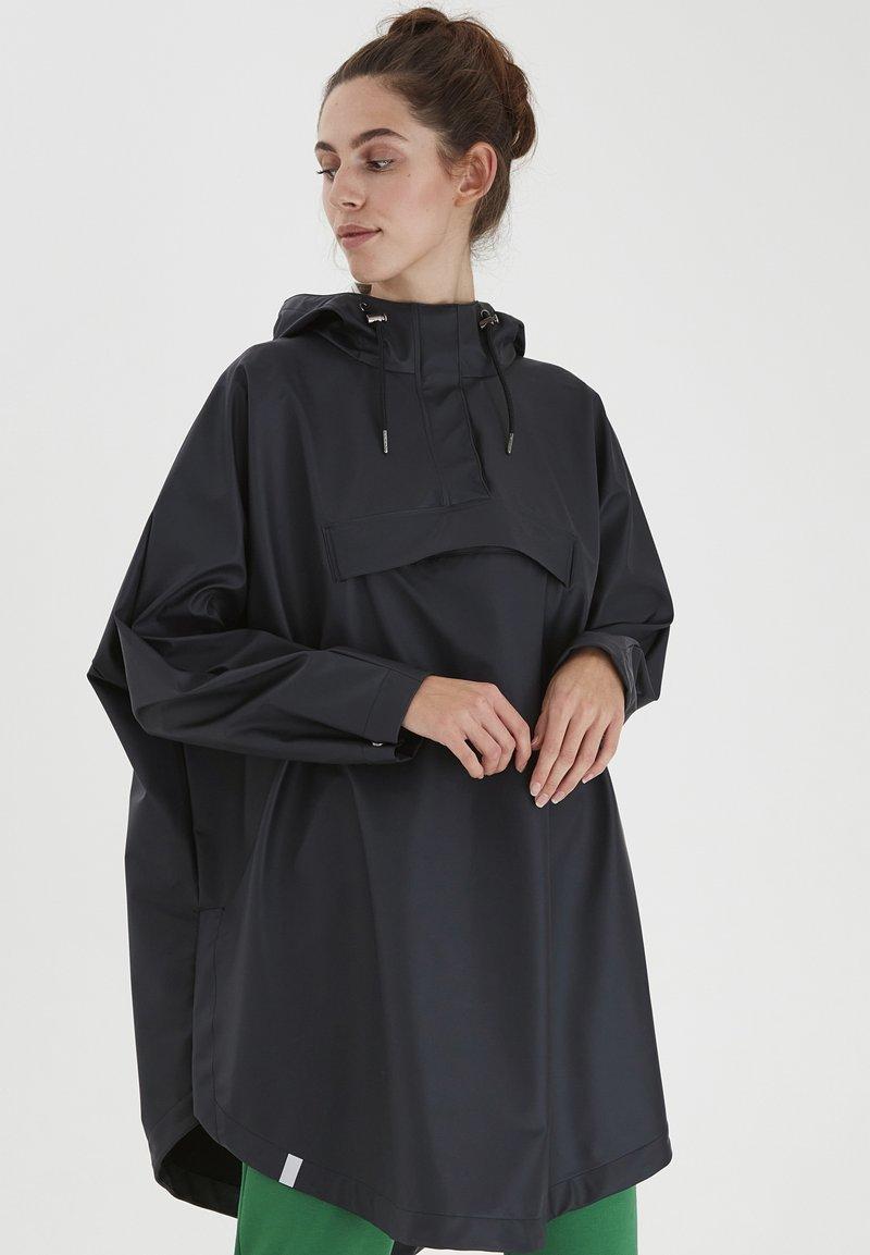 ICHI - IHTAZI  - Waterproof jacket - dark navy