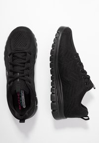 Skechers Wide Fit - GRACEFUL WIDE FIT - Sneakers - black - 3