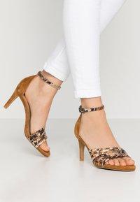 PERLATO - High heeled sandals - camel - 0