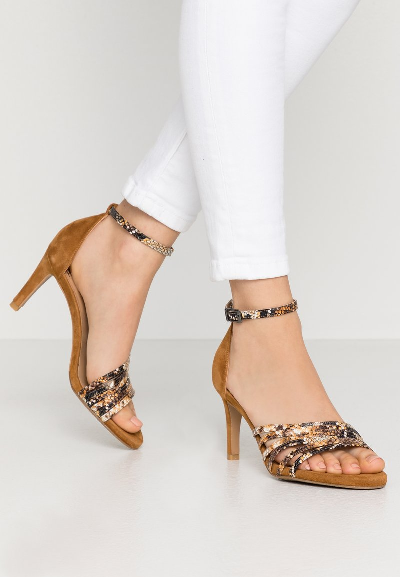 PERLATO - High heeled sandals - camel
