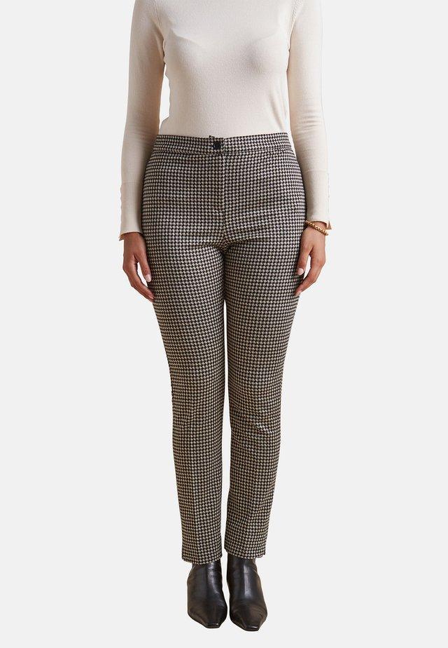 PIED DE POULE - Pantalones - nero