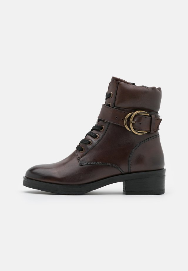 DALEY - Lace-up ankle boots - dark brown